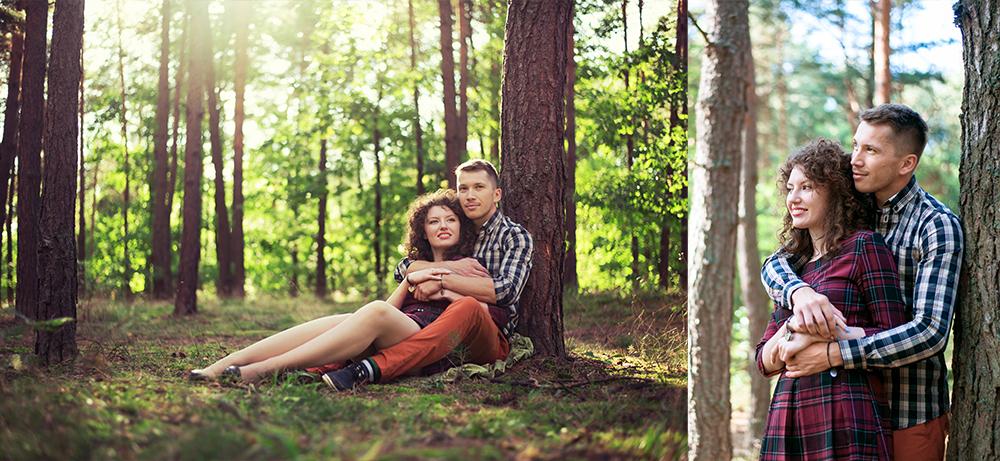 sesja zdjęciowa w lesie, fotograf Lublin, lasy kozłowieckie