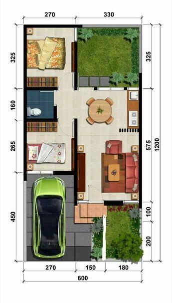 Denah Rumah Minimalis 3 Kamar Ukuran 6x12  koleksi denah rumah minimalis ukuran 6x12 meter