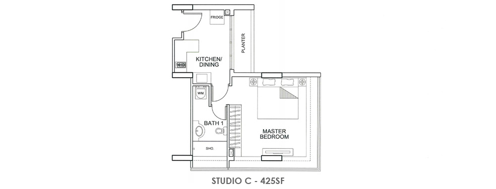 Fortville Studio C Floorplan