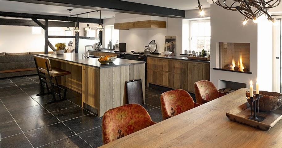 Encantadoras cocinas para casas de campo  Cocinas con estilo