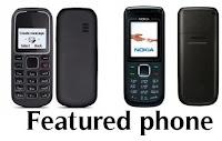 atau disingkat ponsel atau juga sering disebut hape terbagi dalam dua jenis Smartphone dan Featured Phone