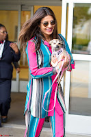 Priyanka Chopra in Colorful Jumpsuit arriving at JFK Airport New York 18 June 2017 ~  Exclusive 016.jpg