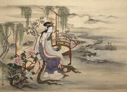 The Chinese Beauty Yang Guifei, quadro de Hosoda Eishi retrata a famosa concubina
