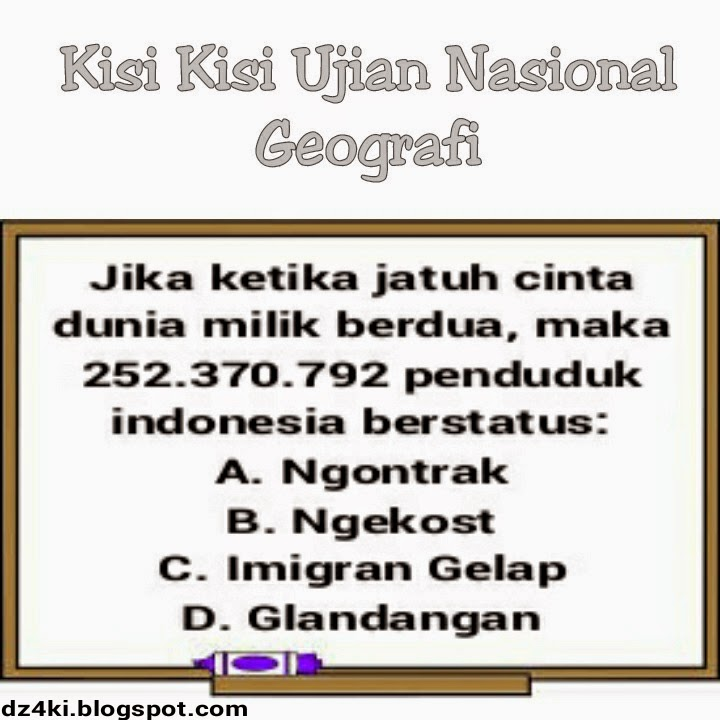 Image Result For Soal Ujian Geografi A