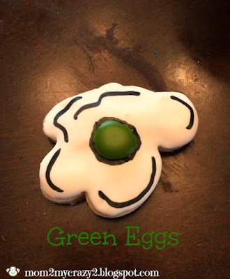 Dr Seuss Green Eggs Royal Icing Cookies by Mom 2 My Crazy 2