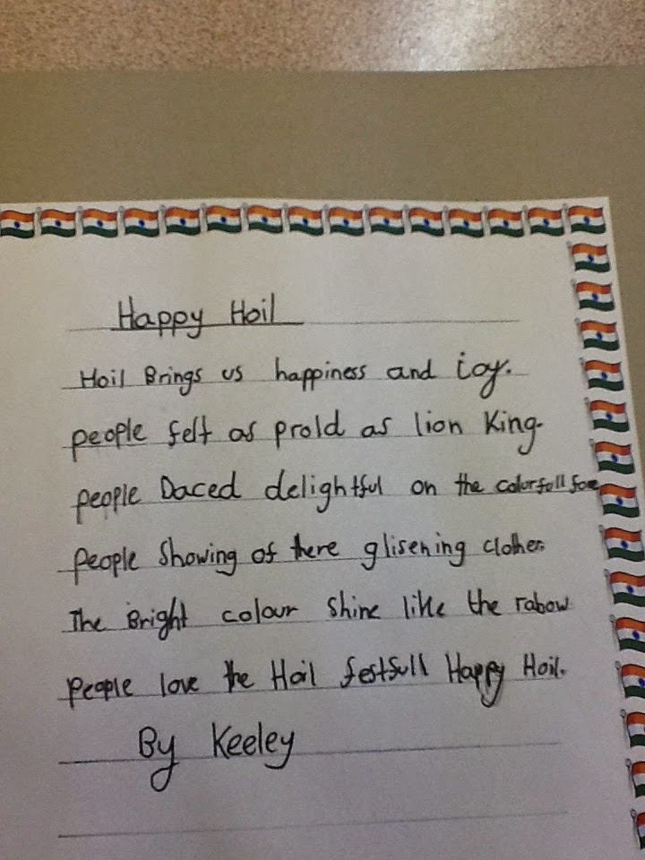year 4 emerald class incredible india poetry