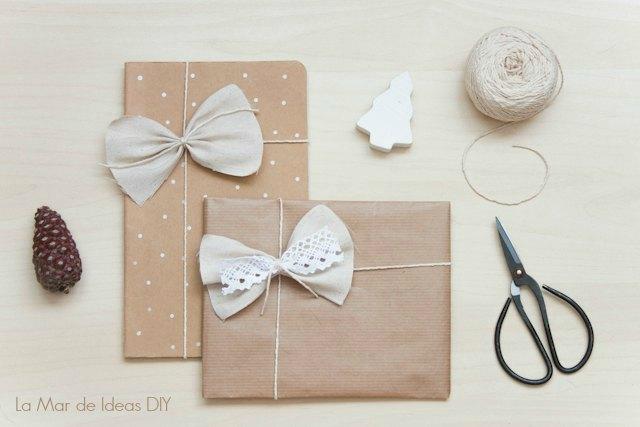 Diy envolver regalos bonitos con un lazo de tela - Como envolver un regalo grande ...