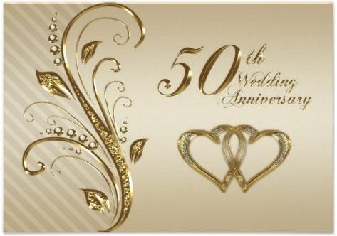 carte pour anniversaire de mariage 50