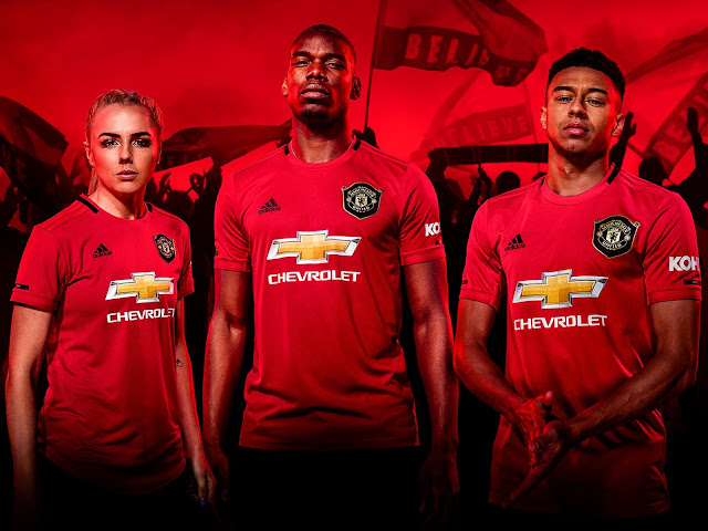 kit home manchester united 2019/20