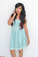 Sahana New cute Telugu Actress in Sky Blue Small Sleeveless Dress ~  Exclusive Galleries 006.jpg