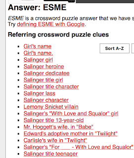 Latimes crossword corner friday salinger title character with professional singing aspirations esme how do i clue thee let me count the ways ccuart Gallery