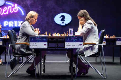 La Russe Valentina Gunina a marqué 2 points sur 2 au Grand Prix Féminin d'échecs de Skolkovo - Photo © site officiel