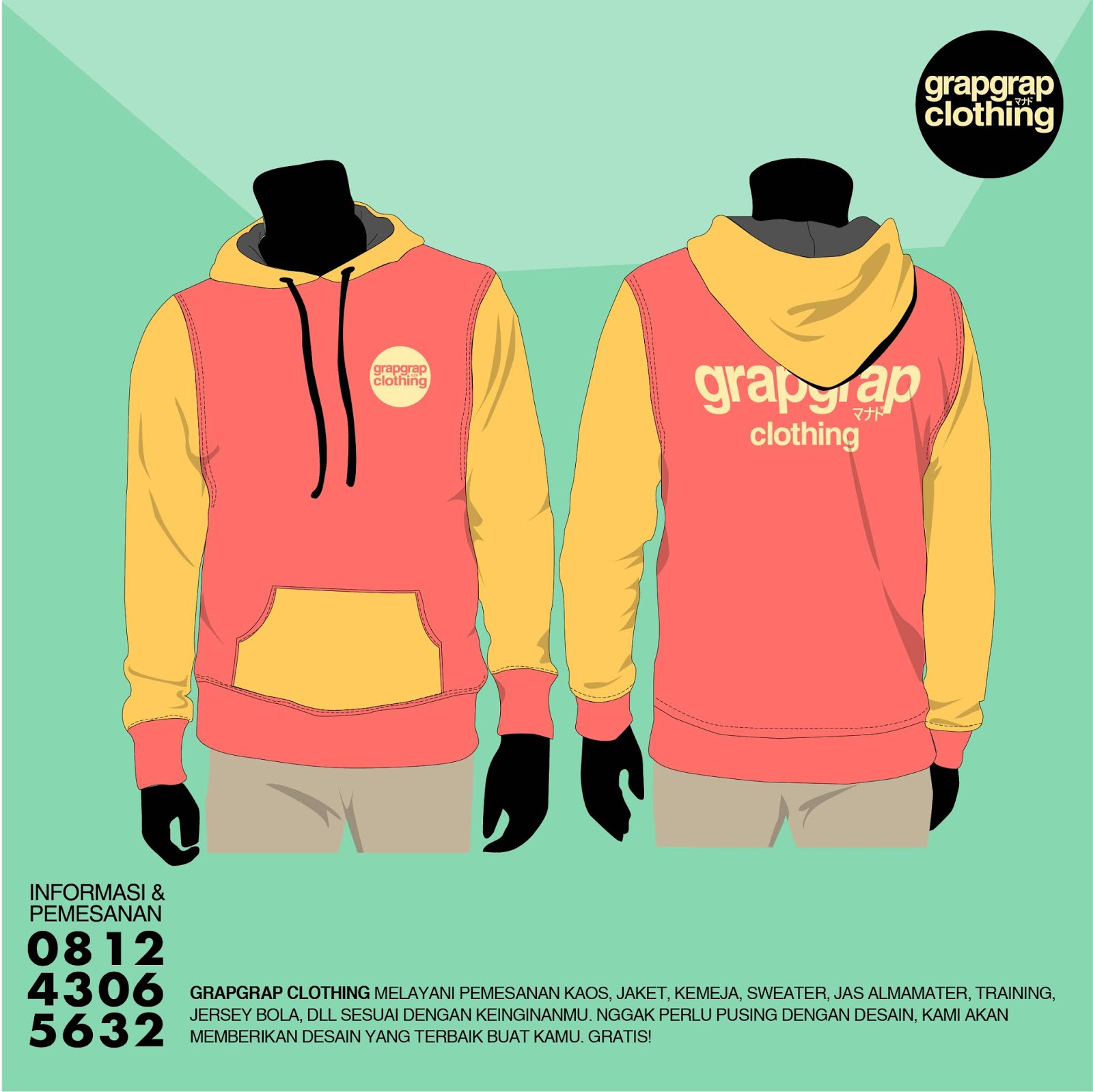 Beking Jacket / Sweater Murah di Manado Model Hoddie