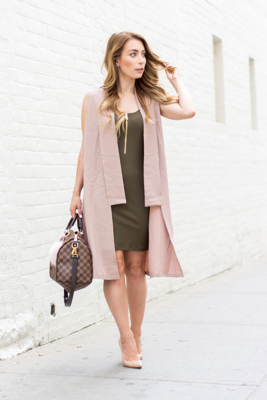 OOTD - Blush Pink + Olive Green | La Petite Noob | A Toronto-Based Fashion and Lifestyle Blog.