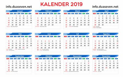 Download Kalender 2019 PDF, PNG, CDR Hijriah, Jawa