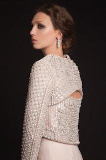 vestido de noiva bordado do estilista Krikor Jabotian