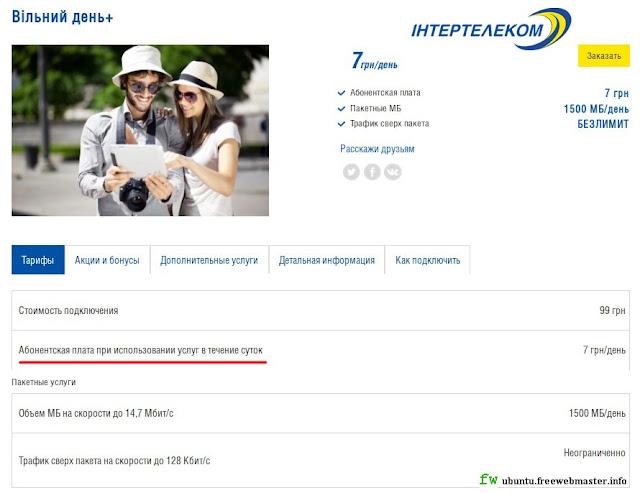 3G интернет от Интертелеком