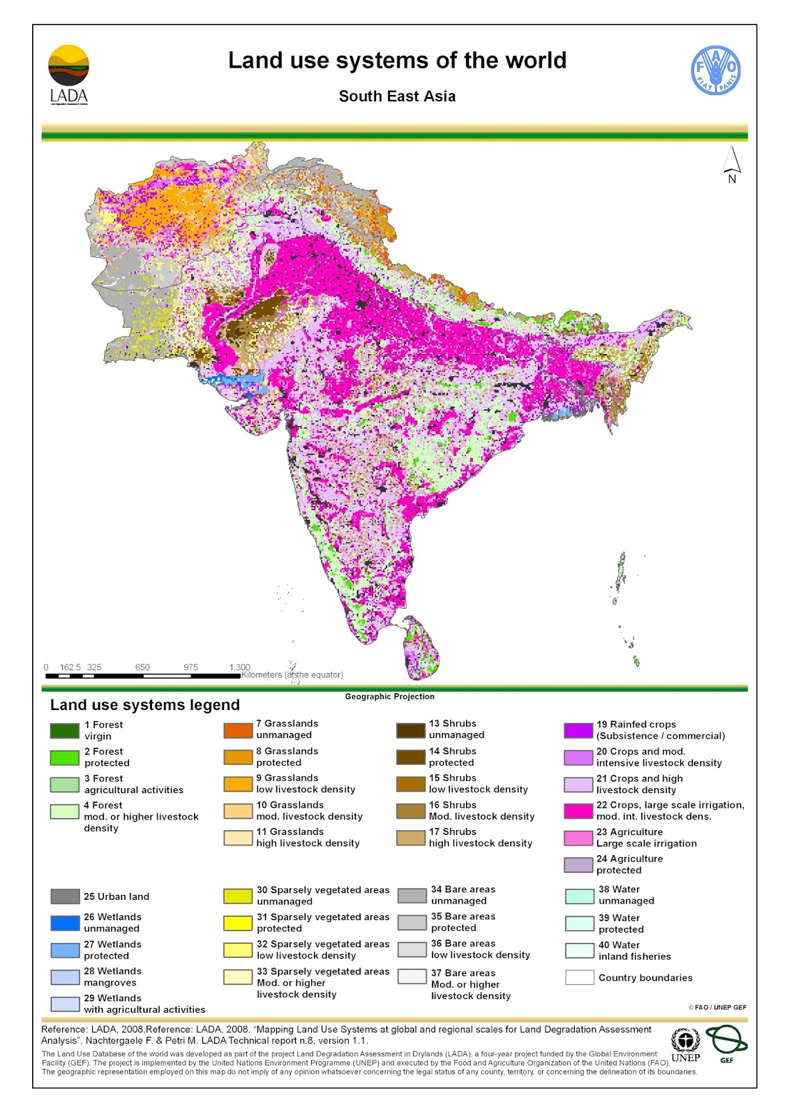 Asia: Land use map