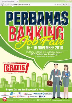Perbanas Jobfair, Surabaya Jobfair November 2018
