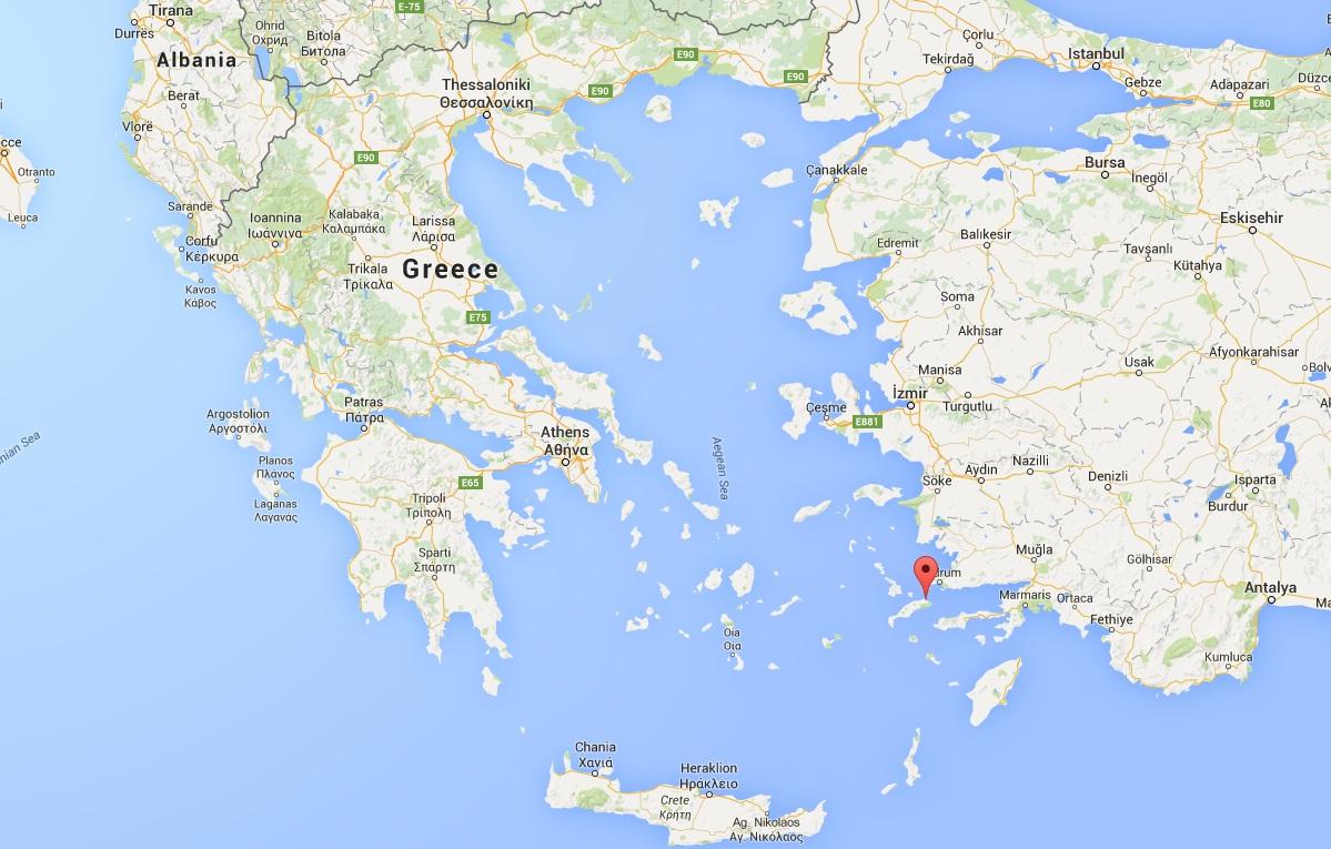 google mapa grcka Eurojet priče sa putovanja: Kos   grčko ostrvo u vodama  google mapa grcka