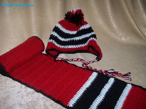 CrochetHatandScarfEarflapToddlerBoyHatRedCrochetToddler Crochet Hats And Scarves For Kids