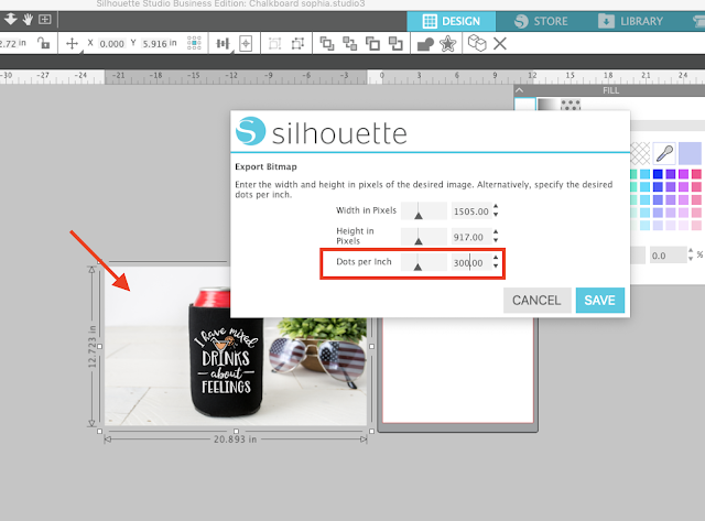DPI, silhouette studio, silhouette business edition, custom DPI, Silhouette Studio Software tutorials