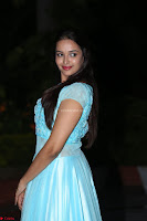 Pujita Ponnada in transparent sky blue dress at Darshakudu pre release ~  Exclusive Celebrities Galleries 091.JPG