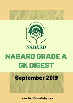 NABARD Grade A GK Digest: September 2019