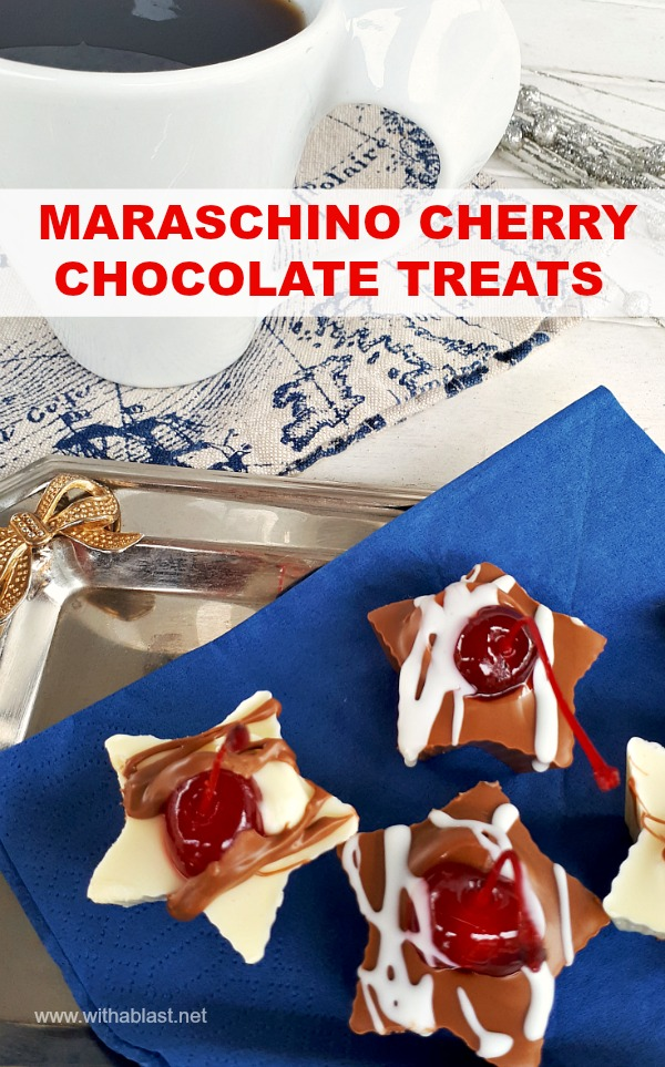 Inexpensive, elegant sweet cherry chocolate treats to add to a sweet party platter and they make great gifts as well!