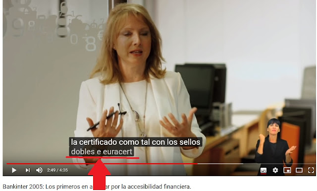 Vdeo donde narra su accesibilidad pero no aparece en los subtitulos