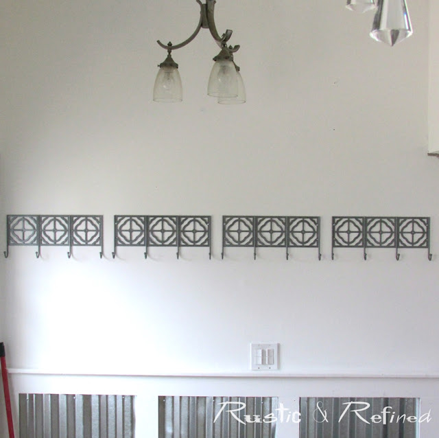 Do It Yourself Industrial / Modern Wainscoting using metal and wood