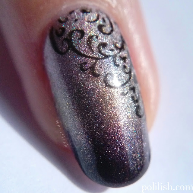 Delicate gradient and stamping with A-England 'Her Rose Adagio', 'Virgin Queen', 'Incense Burner'