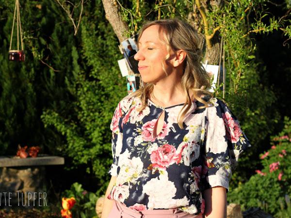 Burdabluse mit Wasserfallärmeln - mein Outfit zur Jugendweihe