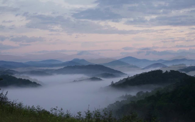 Blue Ridge Mountains en Carolina del Norte
