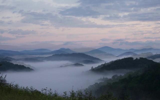 Blue Ridge Mountains en Carolina del Norte
