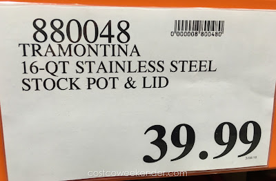 Deal for the Tramontina Pro Line Commercial Grade Stock Pot at Costco