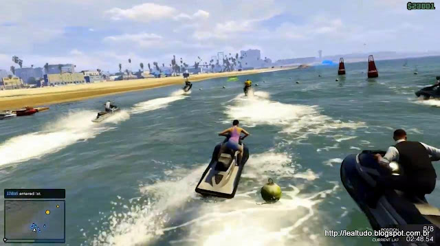 Grand Theft Auto Online Jetski Race Beach - Corrida Praia