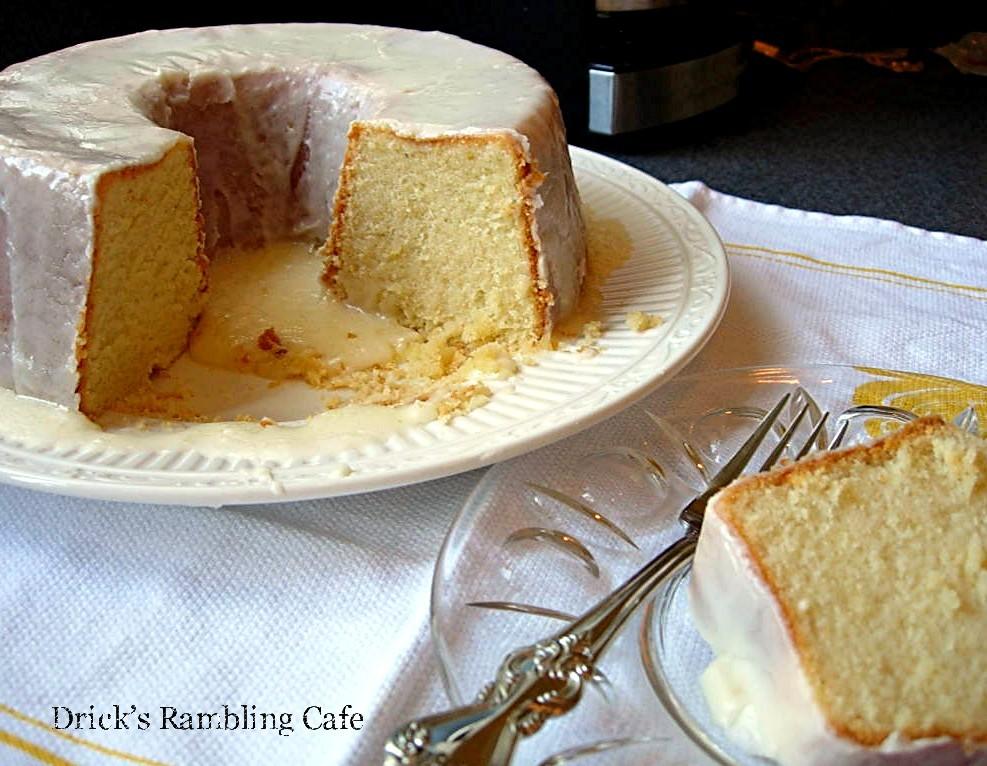 Fresh Lemon Pound Cake With Glaze Drick S Rambling Cafe
