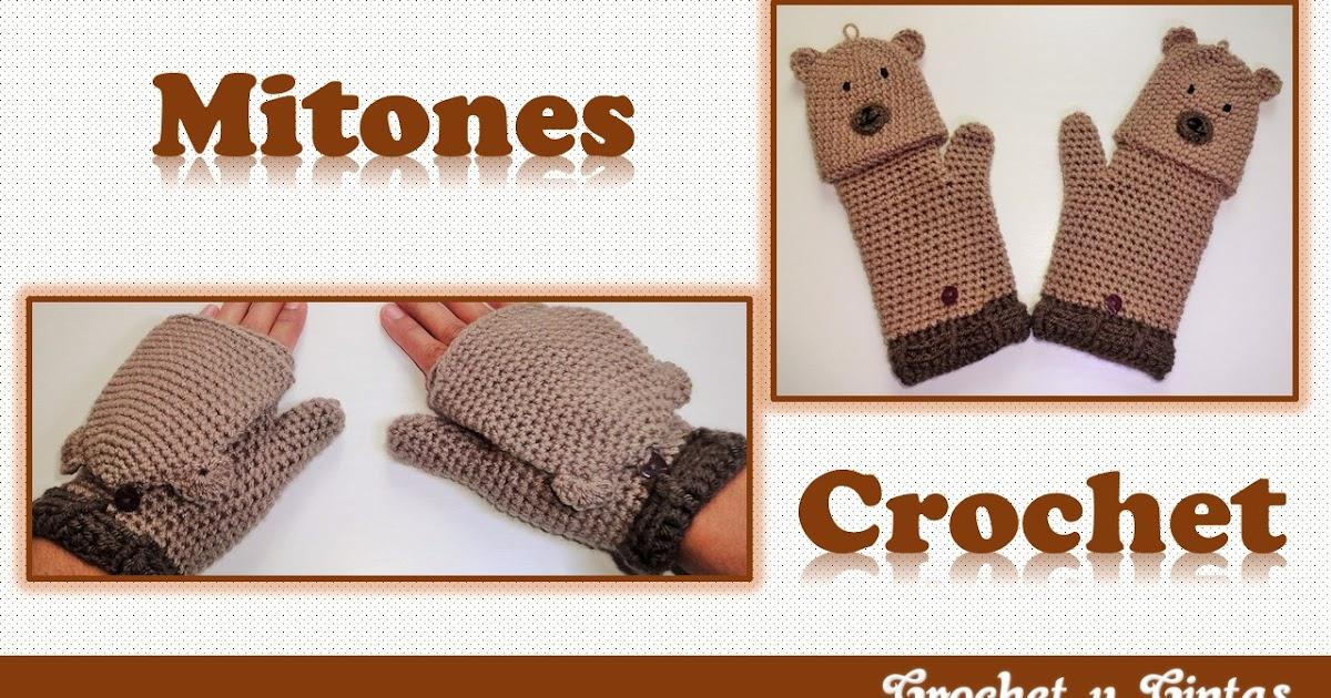 Mitones – guantes sin dedos tejidos a crochet (ganchillo) ~ Crochet ...