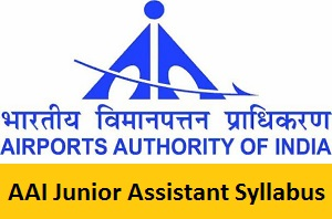 AAI Junior Assistant Syllabus