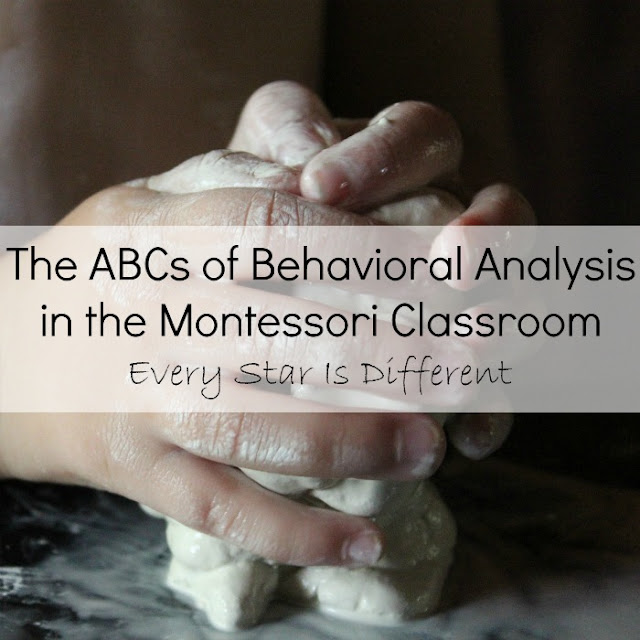 The ABCs of Behavioral Analysis in the Montessori Classroom and free printable