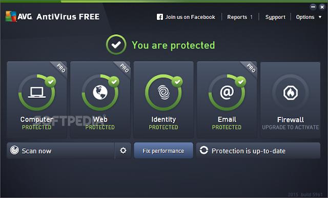 تحميل اقوى برنامج انتى فيرس للكمبيوتر AVG Antivirus Free