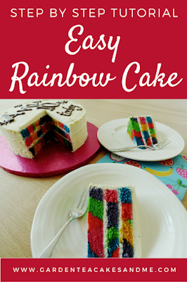 rainbow cake recipe tutorial tie dye cake how to