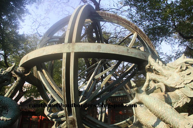 Armilla or armillary sphere, Beijing Ancient Observatory, China