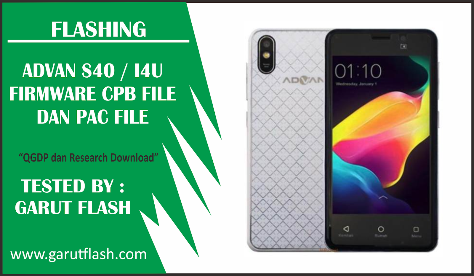 Flashing Advan S40 LTE (i4U) CPB & PAC File Tested - Garut Flash