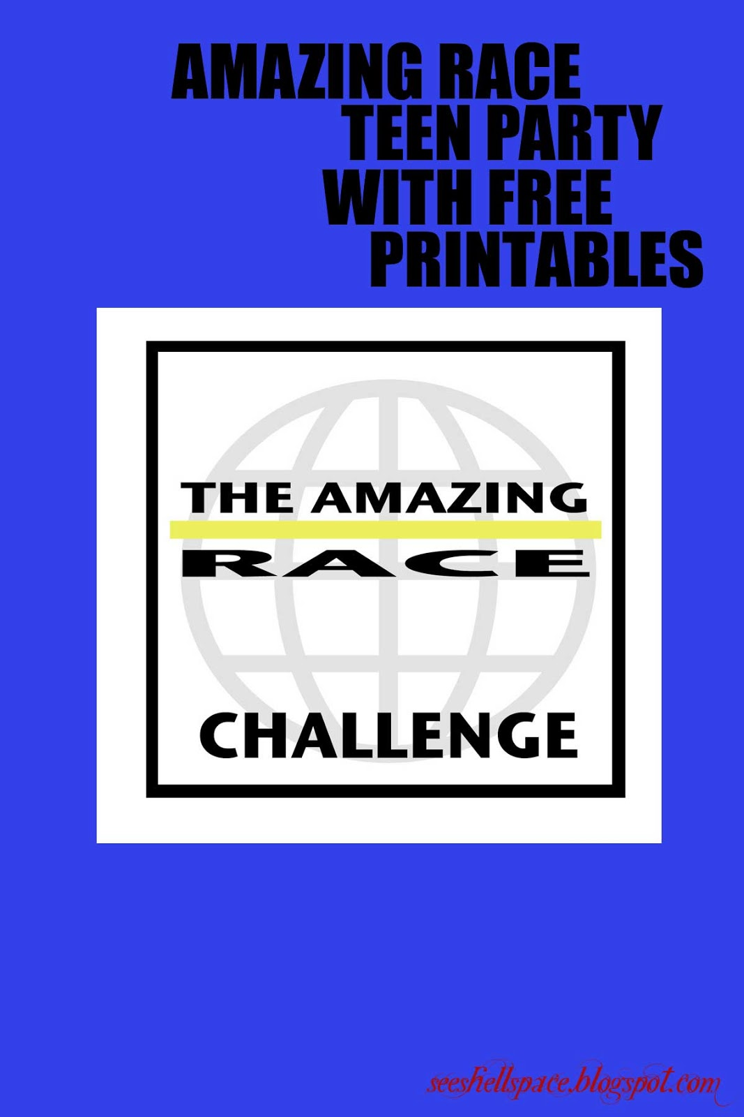 amazing race birthday party templates - seeshellspace it was an amazing race teen birthday party