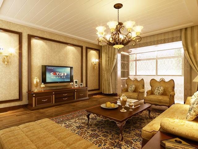 Phòng khách chung cư cổ điển
