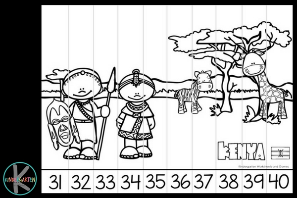print these counting on puzzles in color or black and white to make a cool math game