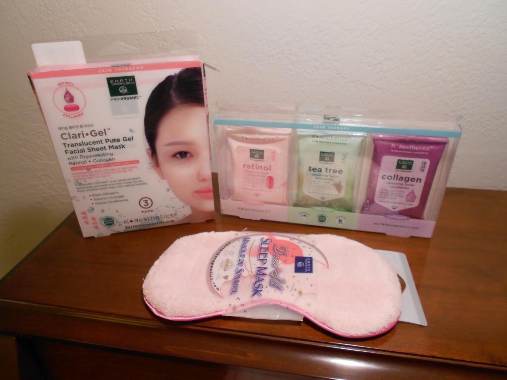Earth-Therapeutics- K-aesthetics-Organics-Retinol skin-care-and-mask