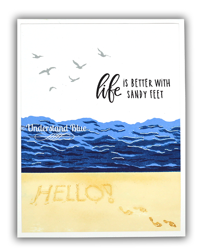 Life is better with sandy feet card by Understand Blue